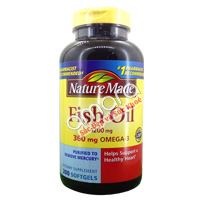 Dầu cá Nature Made Fish Oil Omega 3 (360mg EPA/240mg DHA) 200 viên